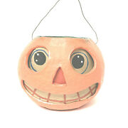 Poliwoggs Pumpkin Jack O Latern Vintage Style Paper Eyes Mouth