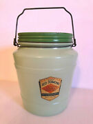 Vintage Red Diamond Herring Cutlets In Glass Jar. Country Store Advertising.