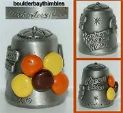 Nicholas Gish Pewter Thimble - ' Reeses Pieces' Candy Signed Htf
