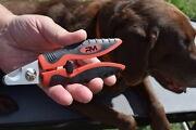 Dog Nail Clippers Angled Head And Non-slip Grip Professional By Ruff And Meow