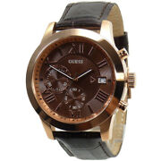 Guess Watch Watches Mens Watch Chronograph W0669g1 Rose Gold Wristwatch New