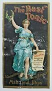 Advertising Trade Card The Best Tonic Malt And Hops Hinchman And Sons Detroit 5194