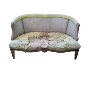 Vintage Double Cane Small Couch Love Seat Settee Chair Heavy Wear
