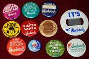Huge Lot Vintage Woodward's Department Store Pinback Buttons Pins Vancouver Bc