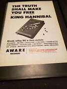 The Mighty Hannibal The Truth Shall Make You Free Rare Promo Poster Ad Framed