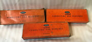 Vintage Nos Ford Cadmium Connecting Rod Bearings 3 Boxes 92a-6211-a