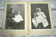 Antique Cabinet Card Photos Mom And Baby Boy In Gown By N.b. Lawson Muskegon, Mi