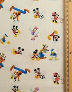 Mickey Mouse Fabric Uk 100 Cotton Material Walt Disney Characters Goofy Donald