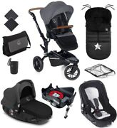 New Jane Trider Matrix Jet Black With Base Bag Footmuff Cup Holder And Raincover