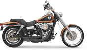 Bassani 2-2 Black Firepower Exhaust For 06-17 Harley Dyna Fxdwg Fxdl Fxdb Fxd
