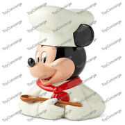 Disney / Enesco Kitchen Cookie Jar - Chef Mickey Mouse - New