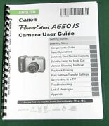 Canon Powershot A650 Is Instruction Manual 219 Pages And Protective Covers