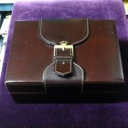 Used Watch Case Rolex Antique Vintage Box With Booklet Card Case Handkerchief