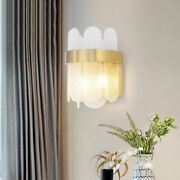 Stainless Wall Light Frosted Glass Gold Lamp Body Warm/ Cool Lovely Lighting New