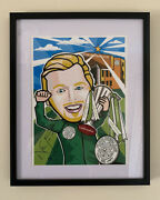 Neil Lennon Signed Limited Edition Celtic 9 In A Row Picture