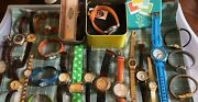 Lot Of 24 Women's Watches Vintage, 2 , Timex, One May Need Band Replaced.