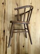 Rare Vintage Thonet Bentwood Captains Spindle Chair