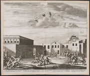 Dapper - The Way Of The Cross. 50 - 1677 Engraving Of The Holy Land