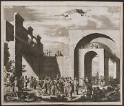 Dapper - The Way Of The Cross. 42 - 1677 Engraving Of The Holy Land
