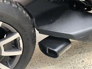 Can Am Ryker Performance Exhaust For All Ryker Single Oval Tip Black