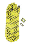 520 X 130 Heavy Duty Yellow X-ring Chain 520 Pitch X 130 Link Xring Master Link