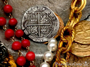 Spain 4 Reales 1556-98 Necklace Pirate Gold Coins Shipwreck Treasure Jewelry