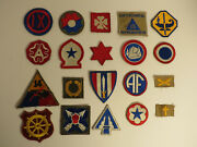 Ww2 Us Army Air Force Patch Lot Of 20 Patches Insignia Wwii Cut Edge Original