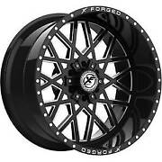 4 New Xf Off-road 20x9 Wheels Xfx-307 Black Milled Flow Forged 6 Lug Ford Chevy