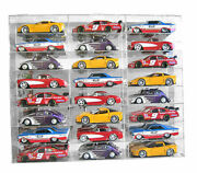 Display Case Wall Cabinet Acrylic For 124 Scale Diecast Nascar Cars Hot Wheels
