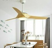 Ceiling Fan With Light Abs Fans Blade Metal Base Acrylic Cover With Led Lighting