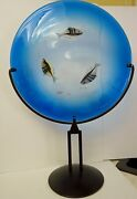 Murano Art Glass Large Fish Charger Raffaeili And Camozzo Signed Made For Ogetti