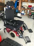 Pacesaver Scout Power Electric Wheelchair Red Bariatric Pick Up Only