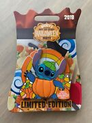 Disney 2018 Mickey Not So Scary Halloween Party Stitch Pumpkin Pin Le 5450 Nwt