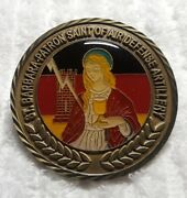 Authentic Usareur 7th Army Wurzburg Germany Saint Barbara Rare Challenge Coin