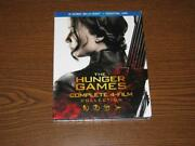 The Hunger Games Complete 4 Film Collection Blu-ray, 2016, 6-disc Set