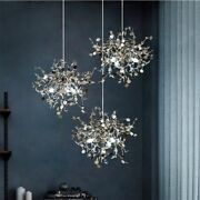 Pendant Lights Hanging Lamps Steel Fixture Golden Silver Round Shape With Led 5w