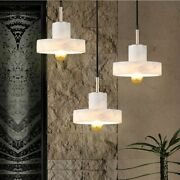 Marble Pendant Light Indoor Kitchen Led E27 Lamp Plated Gold Silver Body 90-260v