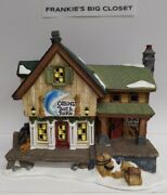 Ceramic Lighted Christmas Village Cabins Bait And Tackle Hand Painted 7.5 Tall