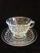 Fostoria Glass American Cup And Saucer