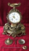 French Gilt Bell Striking Mantle Clock By Japy Freres
