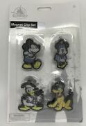 Disney Parks Mickey Minnie Mouse Donald Duck Pluto Icons Bag Clip Set 4 Magnet