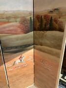 Antique Six Panel Oil Painting Mural