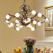 Chandelier Flower Bedroom Lights Fashionable Cozy Fixtures Inside Micro Led Lamp