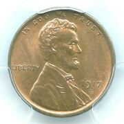 1917-d Lincoln Cent, Pcgs Ms64rb