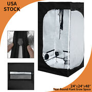 24x24x48 Grow Tent Reflective Mylar Indoor Hydroponic Plants Room Box 2and039x2and039