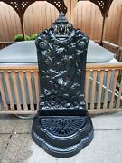 Large Cast Iron Victorian Neptune Wall Fountain Late 19th Century Neoclassic