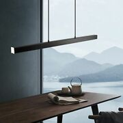Black Lights Aluminum Pendants With Remote Control Perfect For Hotel Dining Area