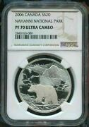 2006 Canada 20 Nahanni National Park - Ngc Pf70 Uc /w All Packaging Silver