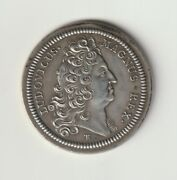 Rare Token Silver Numbered, N° 160/300 Louis Xiv, Officers Plancheeurs