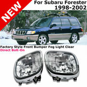 For 98-02 Subaru Forester   Fog Lights Pair Clear Front Driving Lamp Replacement